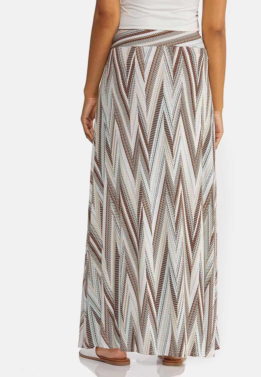 Petite Chevron Maxi Skirt (Item #44268987)