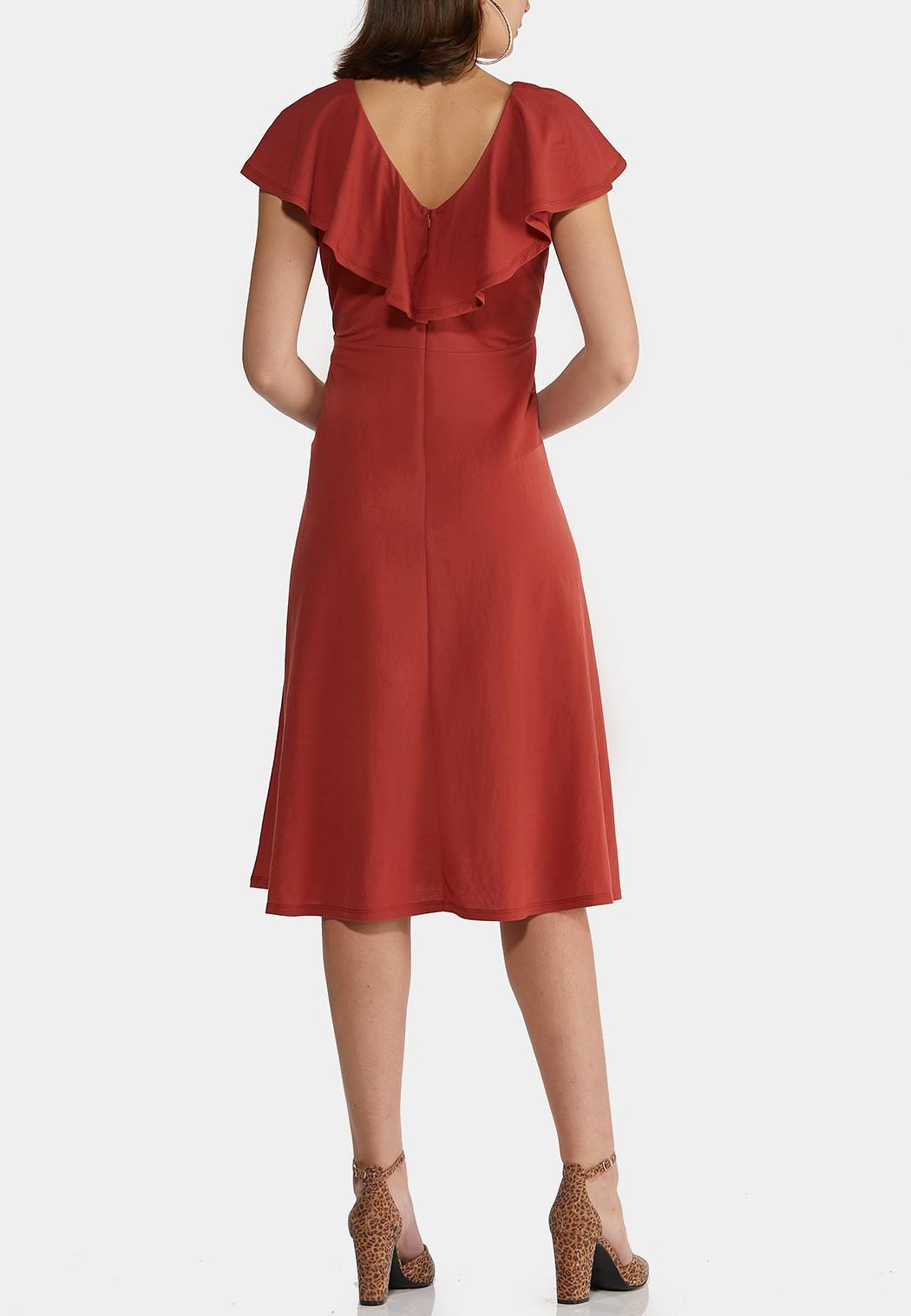 Flounce Collar Midi Dress (Item #44269042)