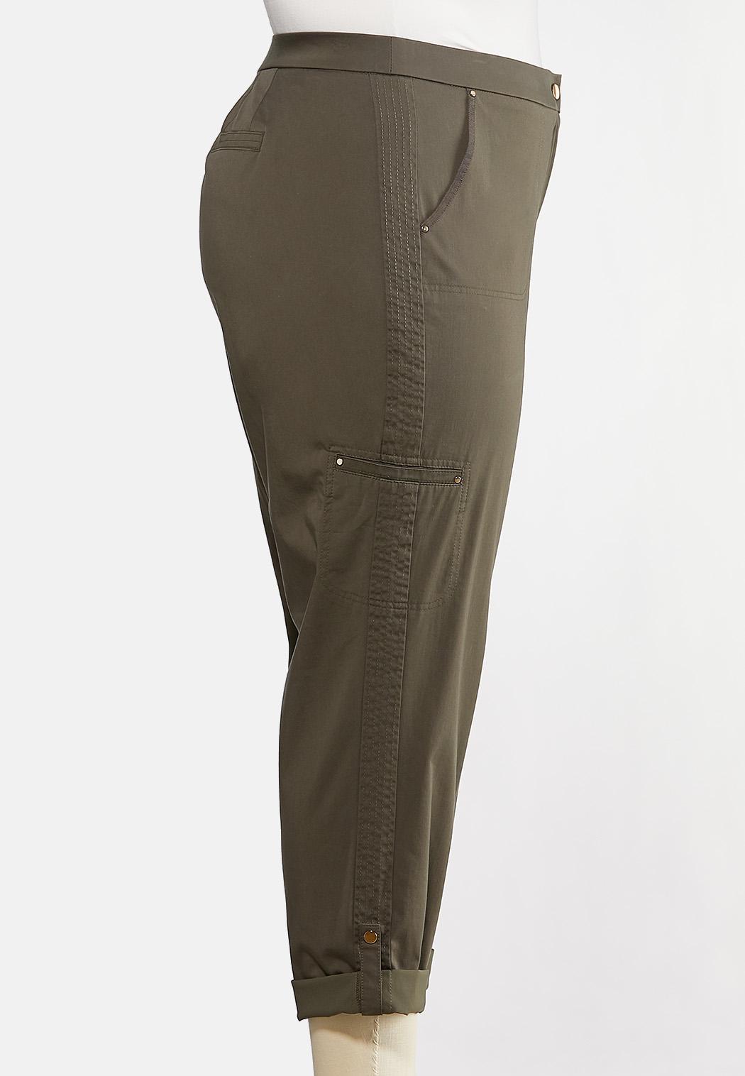 Plus Size Cropped Utility Pants (Item #44269352)