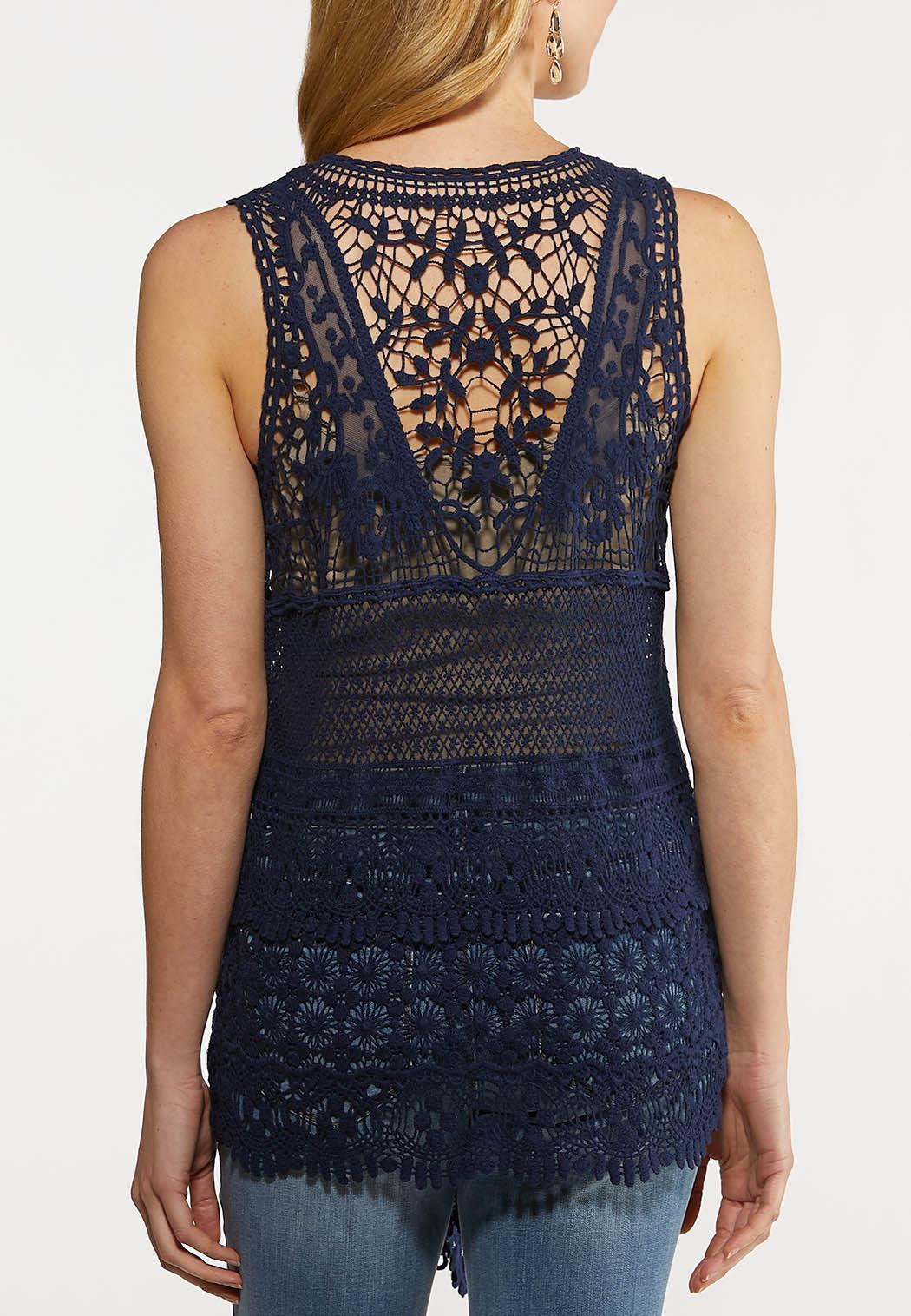 Mesh Crochet Vest (Item #44269513)
