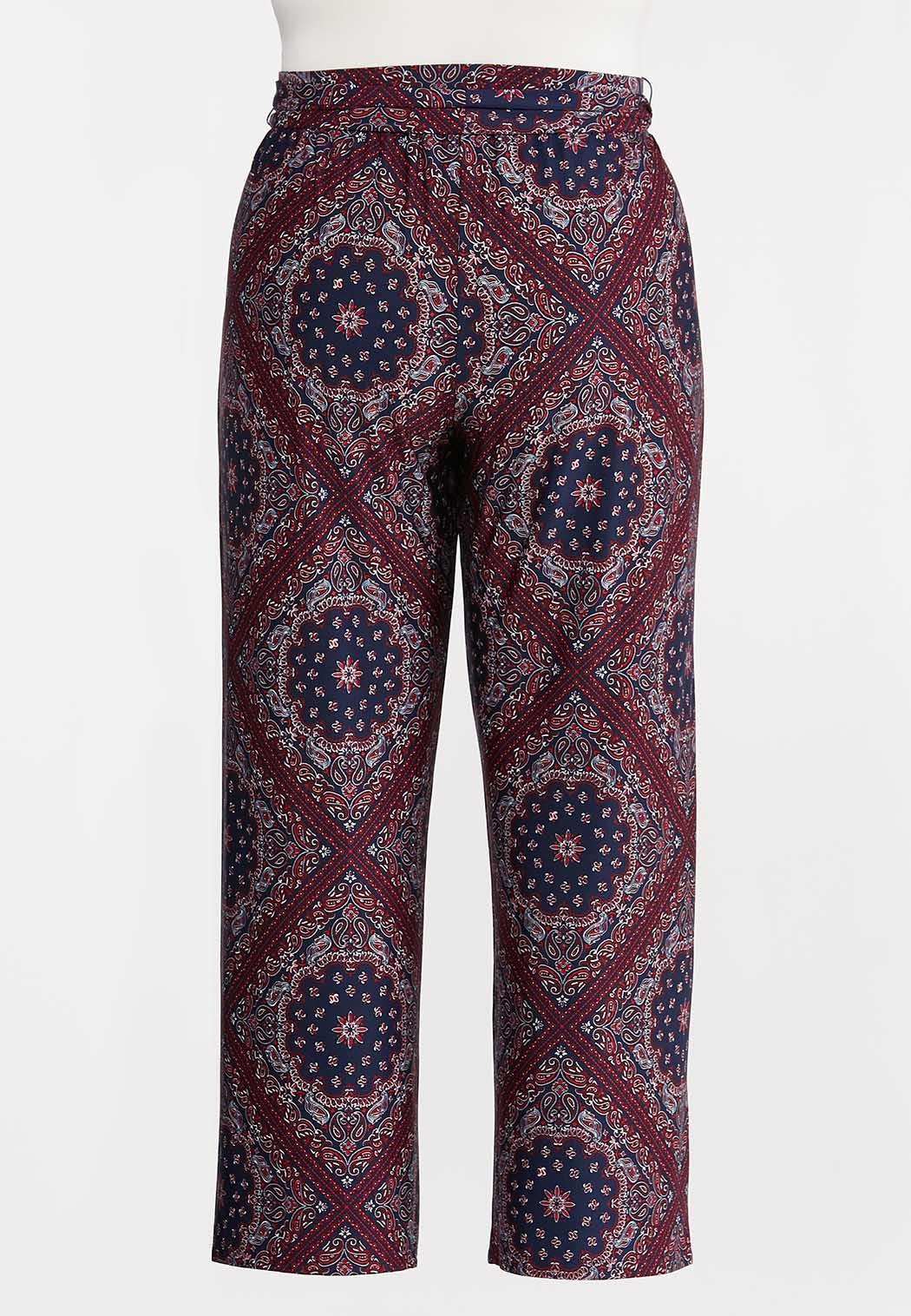 Plus Size Moroccan Tie Front Pants (Item #44269627)