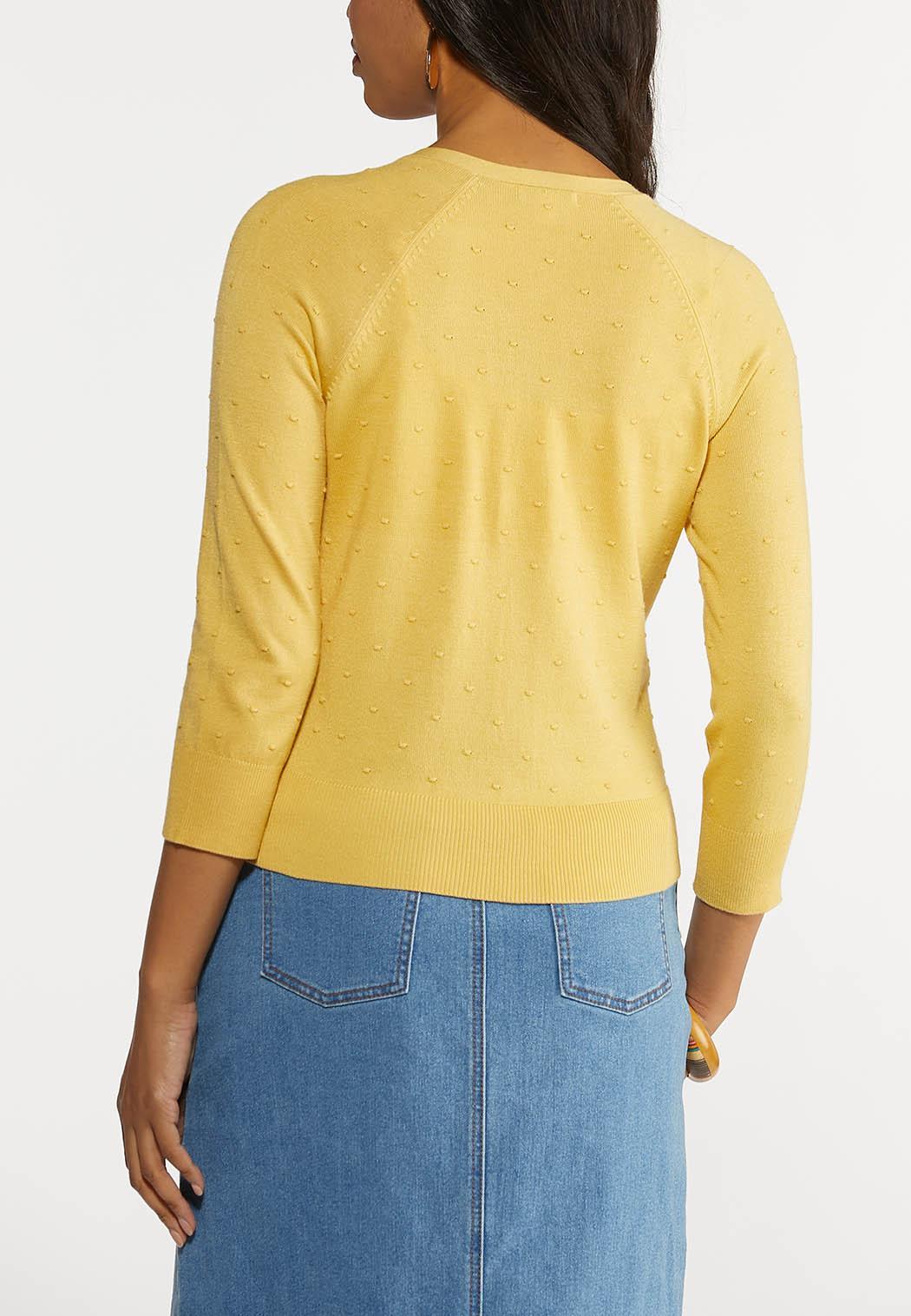 Plus Size Cropped Cardigan Sweater (Item #44269691)