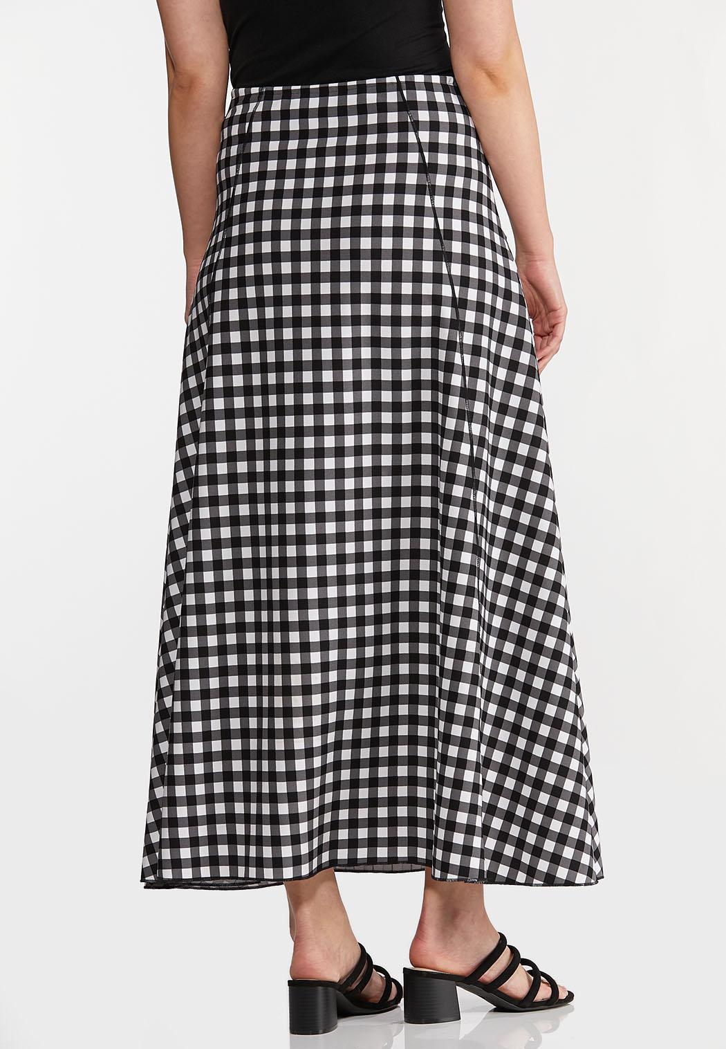 Gingham Maxi Skirt (Item #44269796)