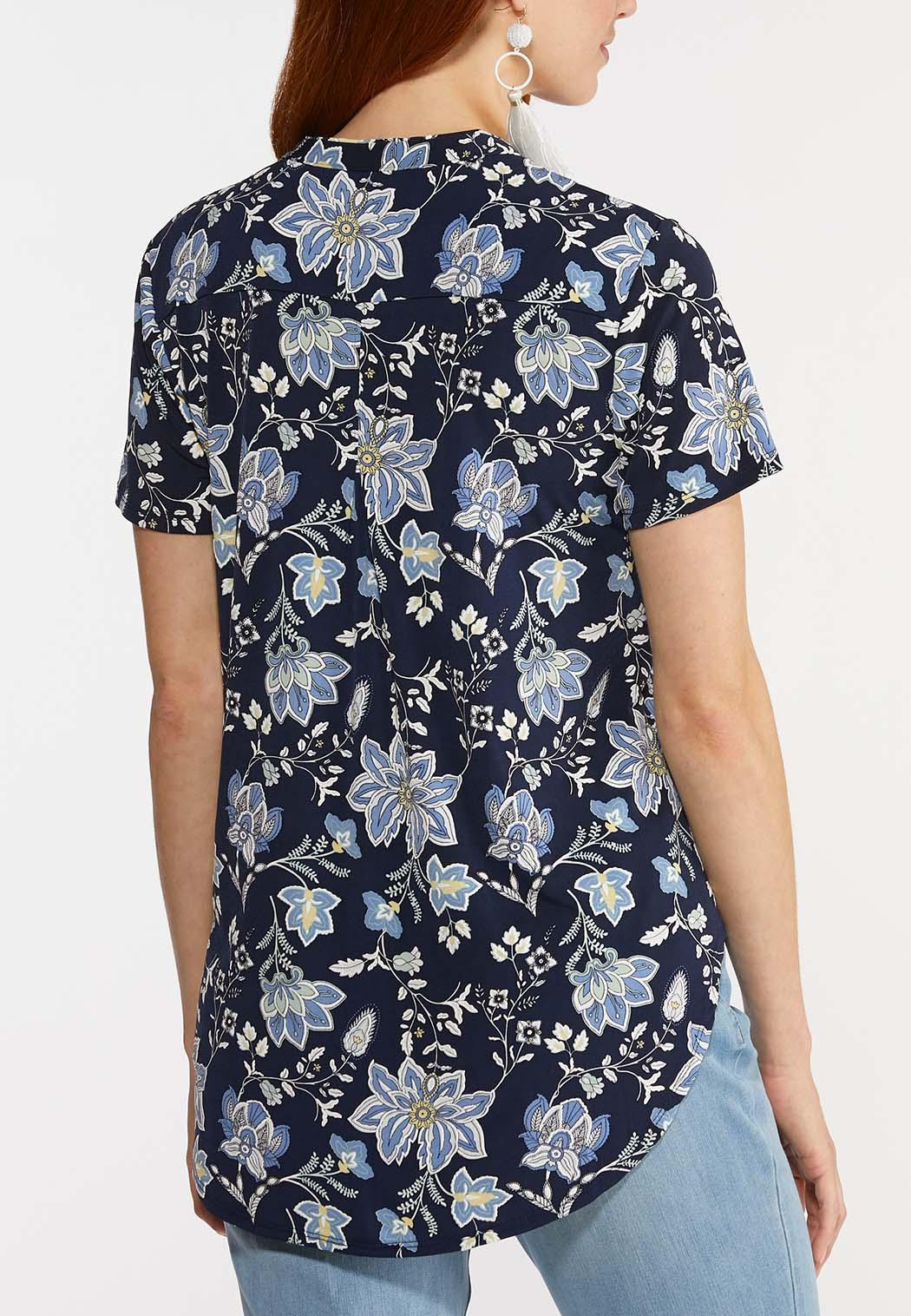 Navy Floral Top (Item #44269812)