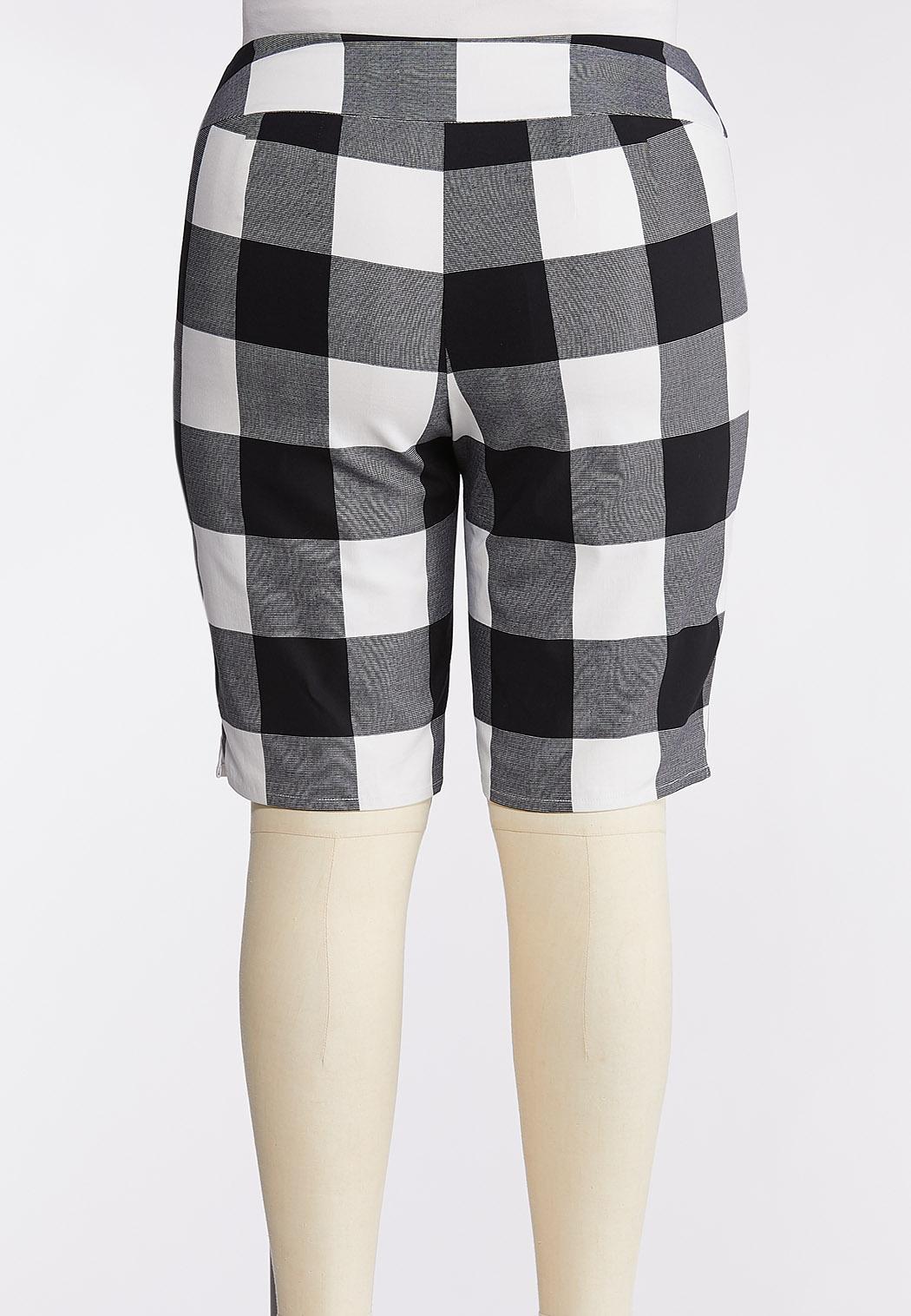 Plus Size Checkered Bermuda Shorts (Item #44269892)