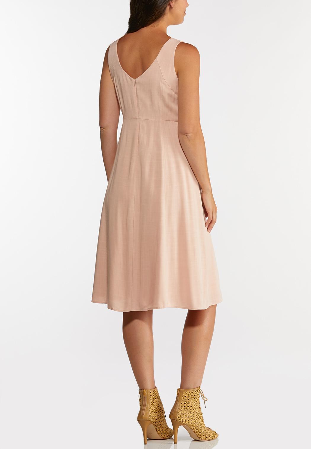 Plus Size Linen Midi Dress (Item #44270240)
