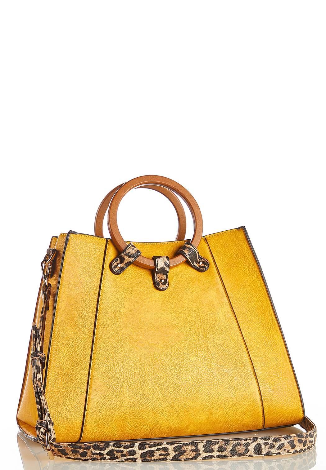 Leopard Trim Handbag (Item #44270340)
