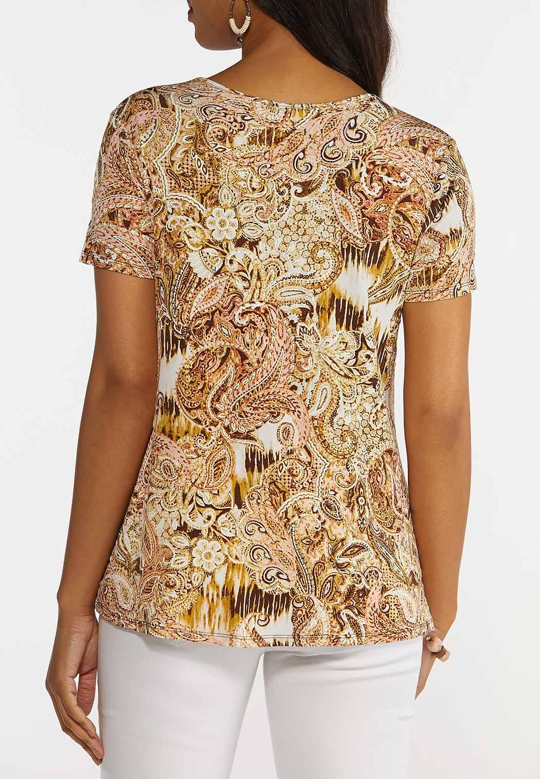 Plus Size Paisley With A Twist Top (Item #44270631)