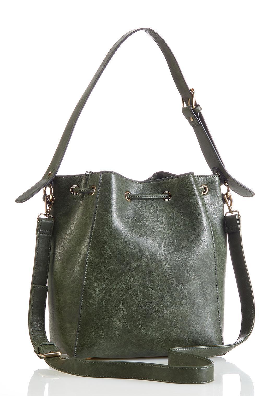 Fringe Front Bucket Handbag (Item #44270787)