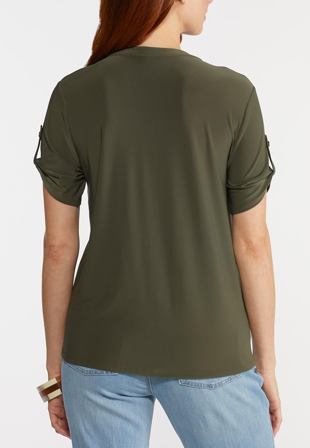 Plus Size Knit Utility Top (Item #44270827)