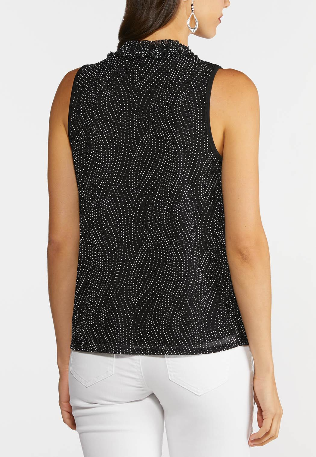 Dotted Mock Neck Top (Item #44271557)