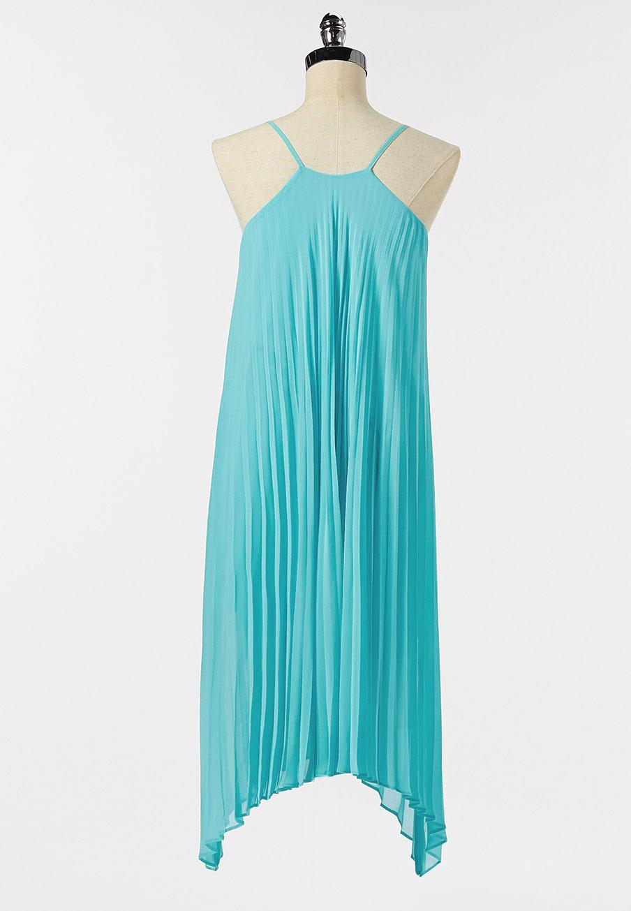 Pleated Turquoise Dress (Item #44271845)