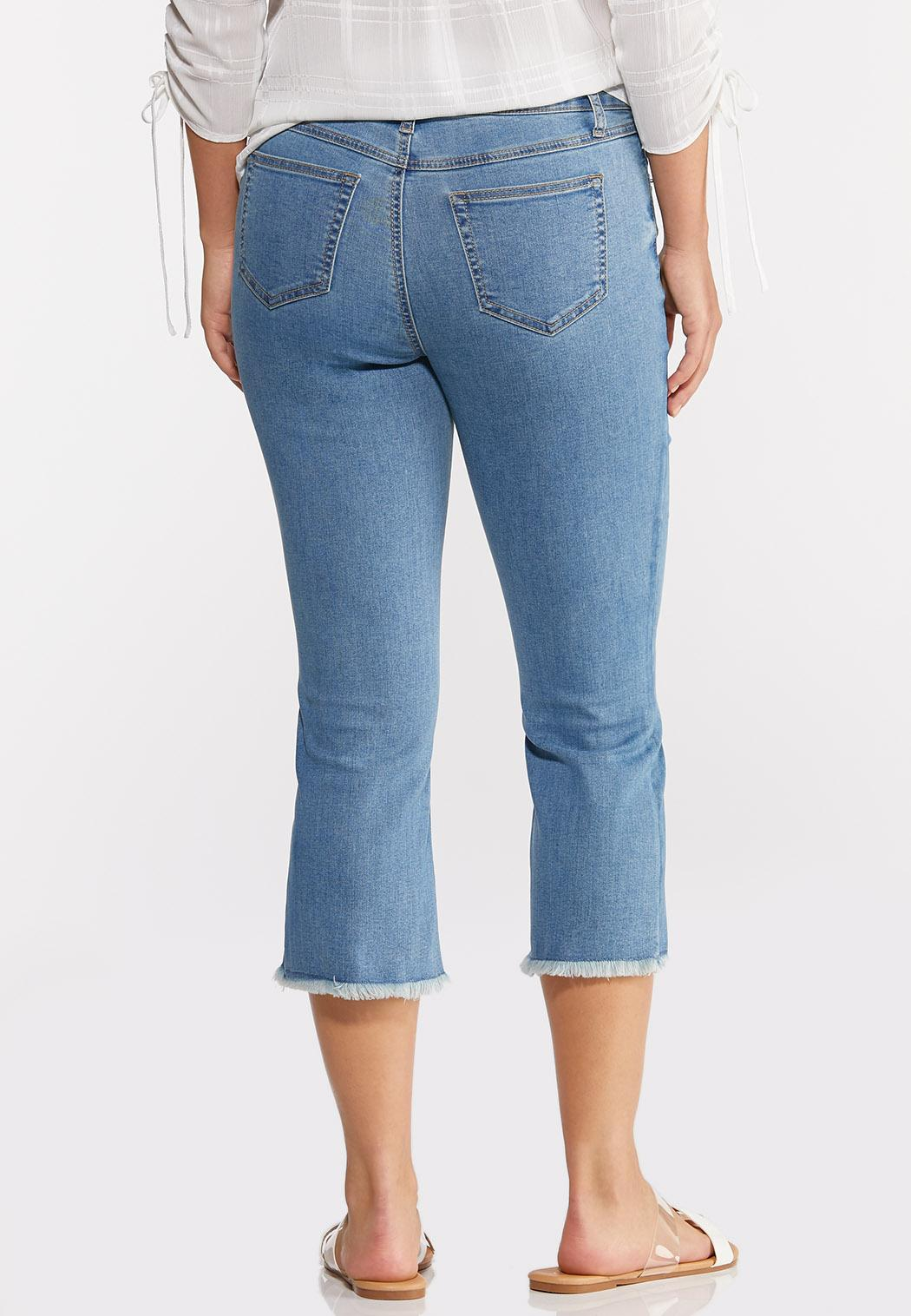 Cropped Frayed Jeans (Item #44272234)