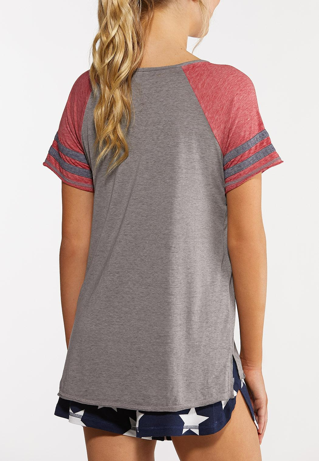 Plus Size Sporty Number Tee (Item #44272653)
