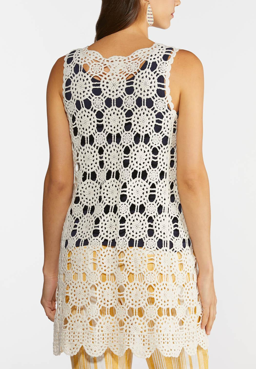 Scalloped Crochet Vest (Item #44272832)