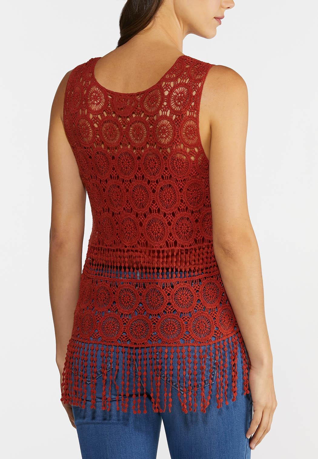 Crochet Fringe Hem Tank (Item #44272870)