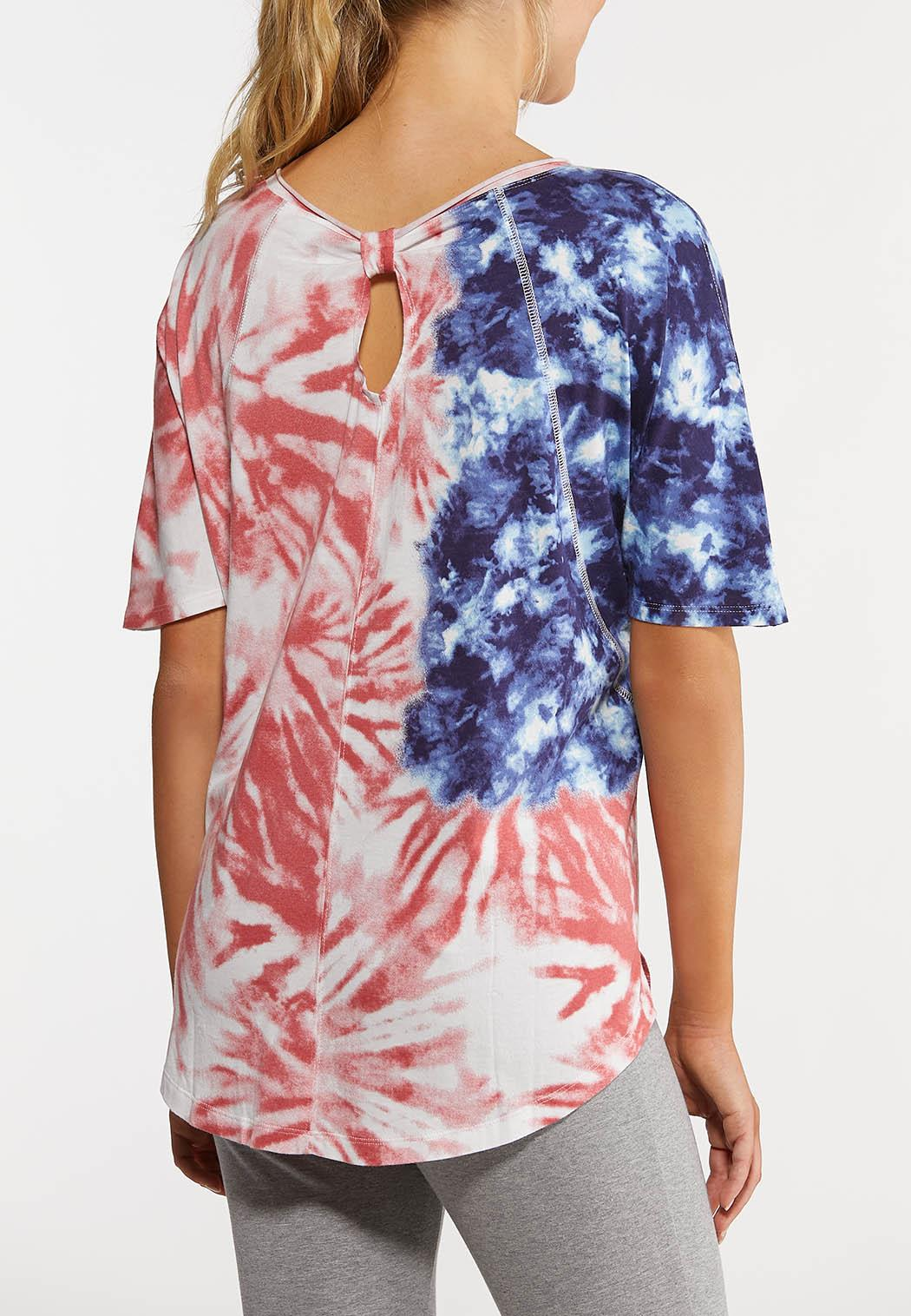 Plus Size Americana Tie Dye Tee (Item #44272962)