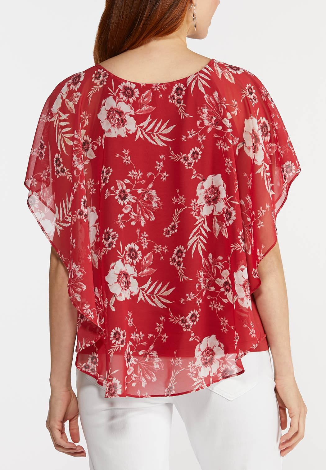 Red Floral Capelet (Item #44273145)