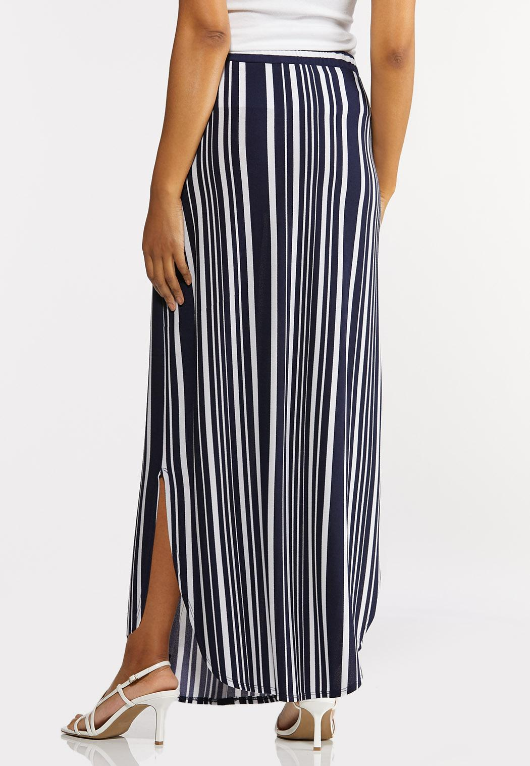Mixed Stripe Maxi Skirt (Item #44273669)