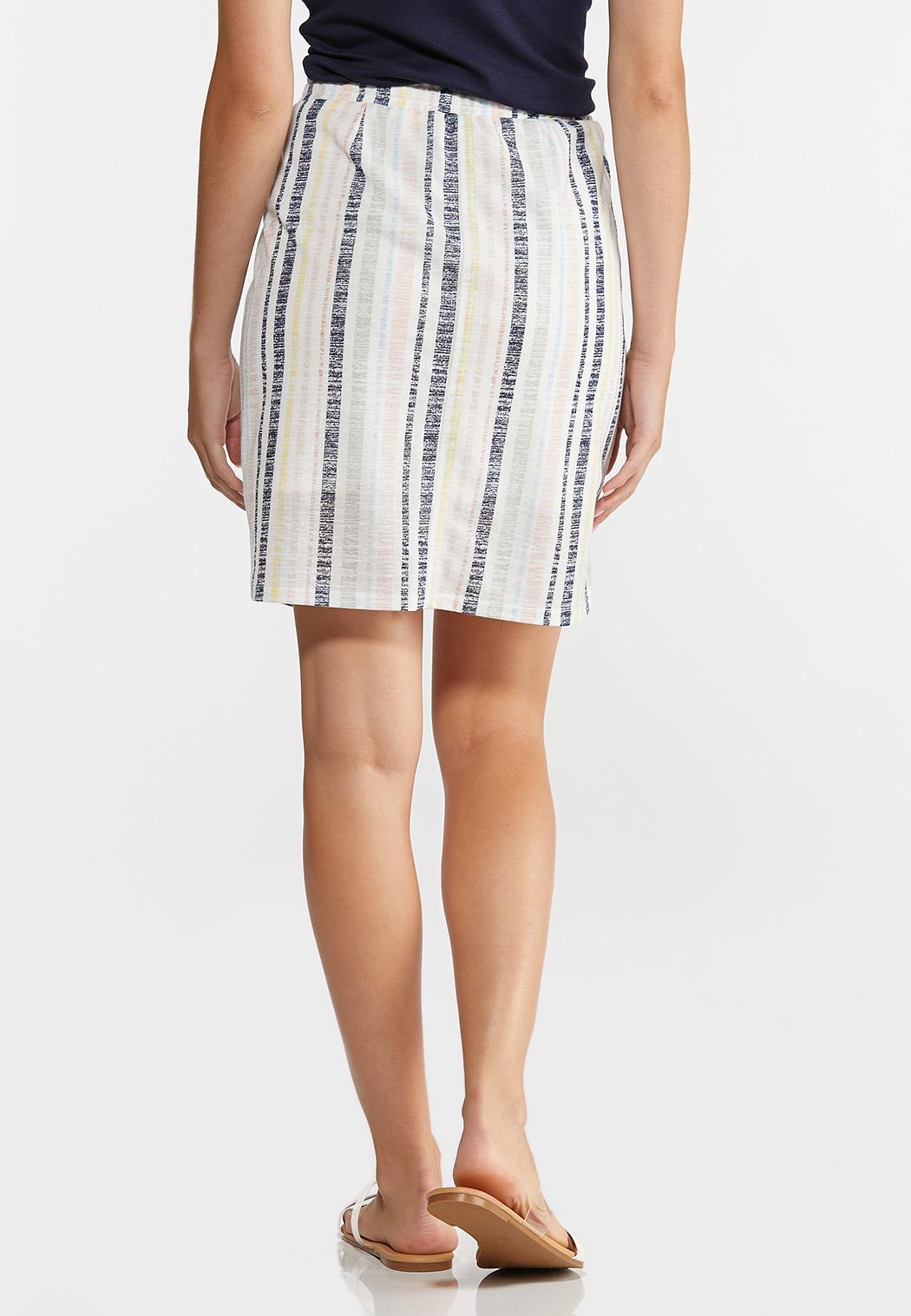 Faded Stripe Mini Skirt (Item #44273703)