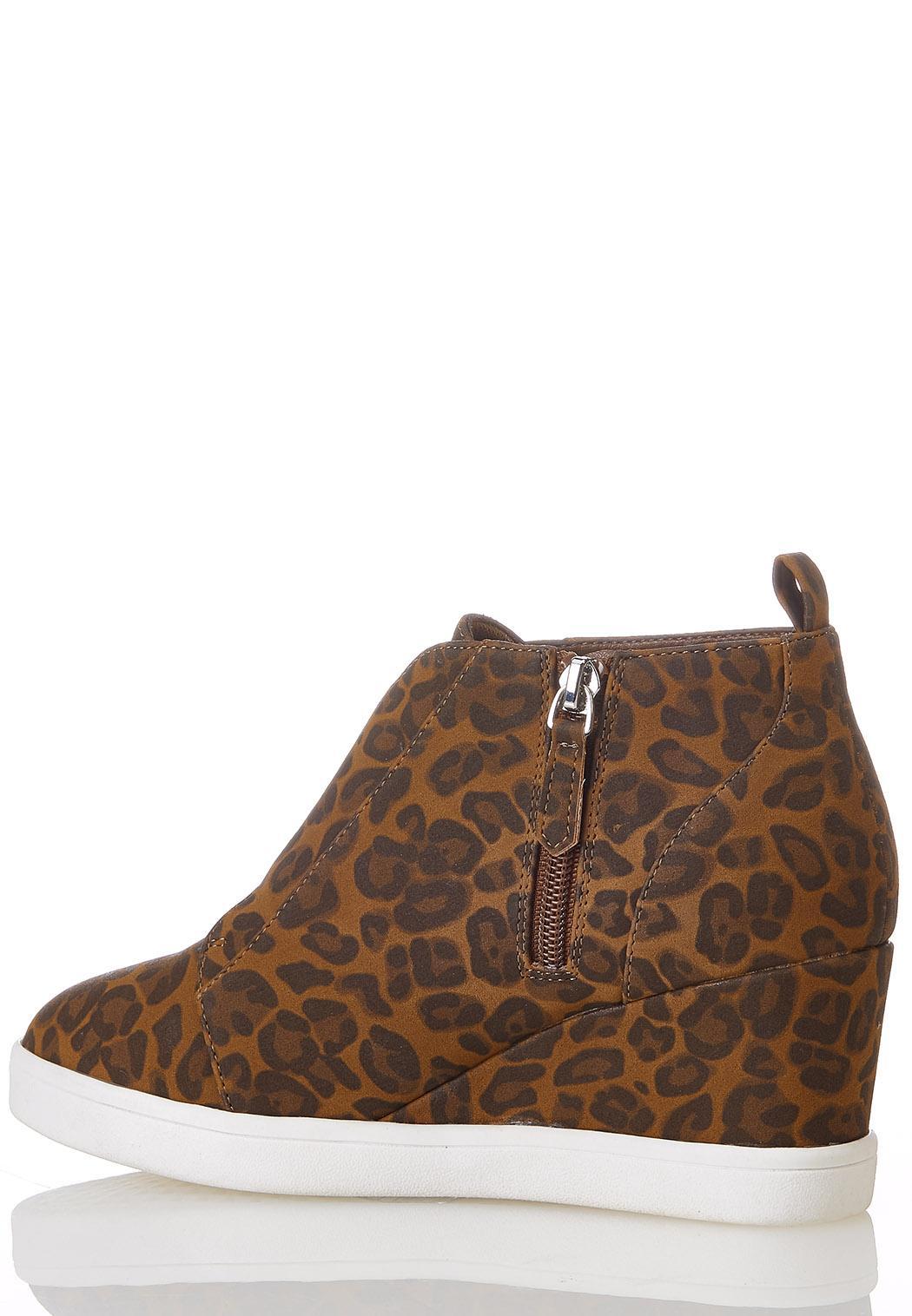 Leopard Wedge Sneakers (Item #44273911)