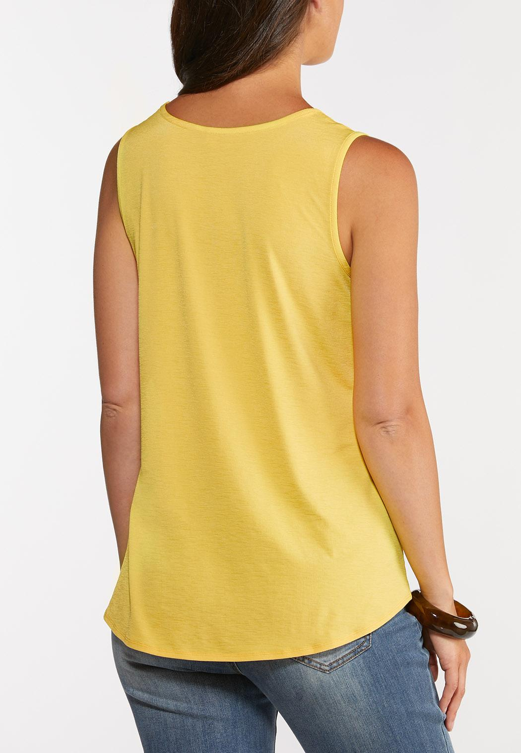 Button Tie Front Tank (Item #44274237)