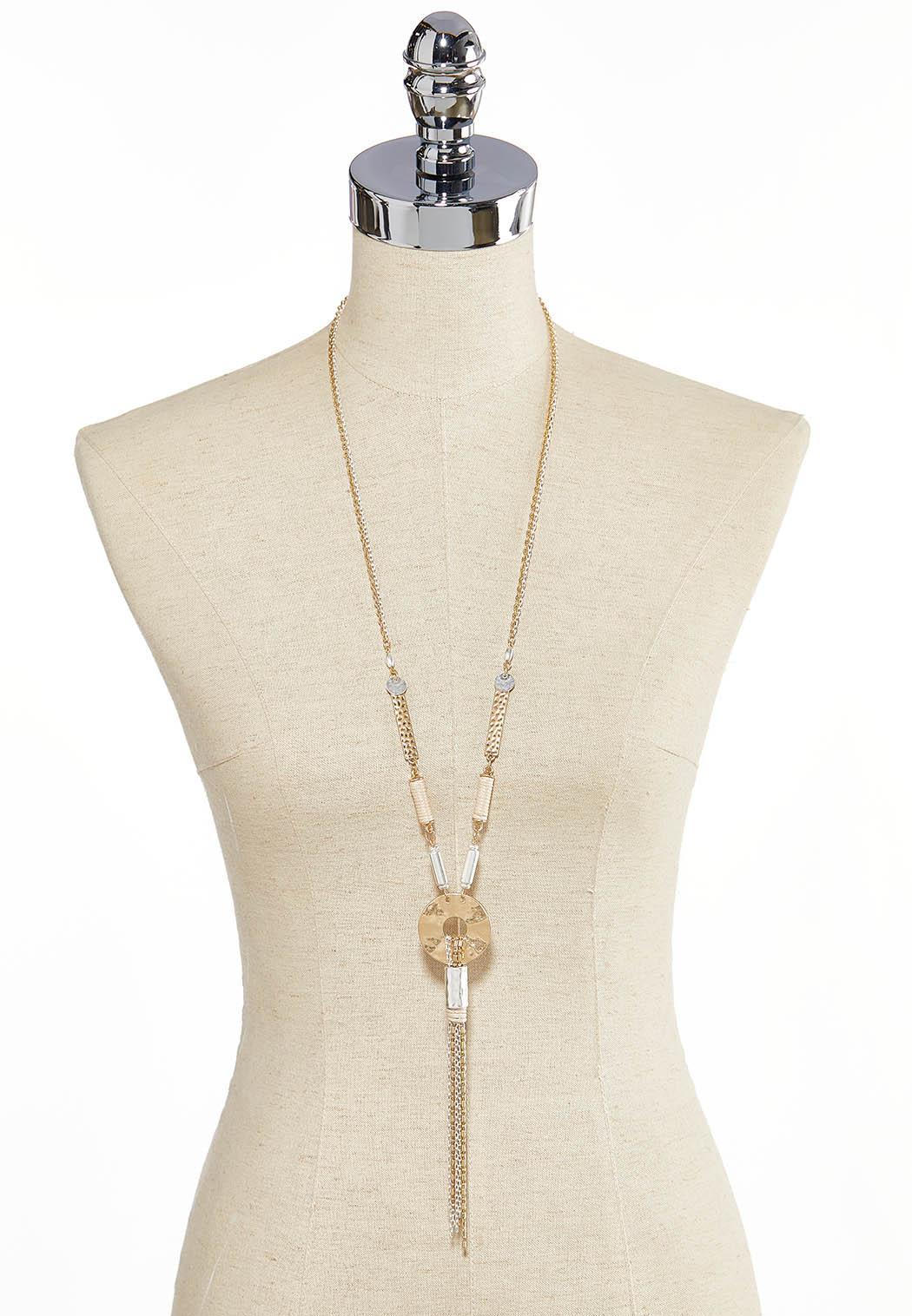 Metal Chain Tassel Necklace (Item #44274781)