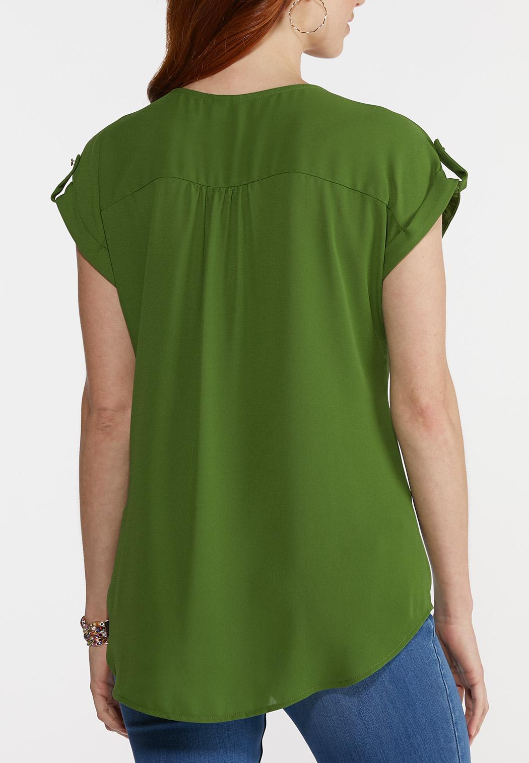 Plus Size Zip Front Top (Item #44274990)
