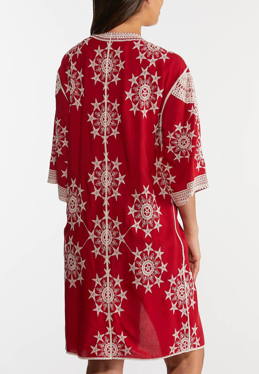 Plus Size Crochet Star Kimono (Item #44275215)