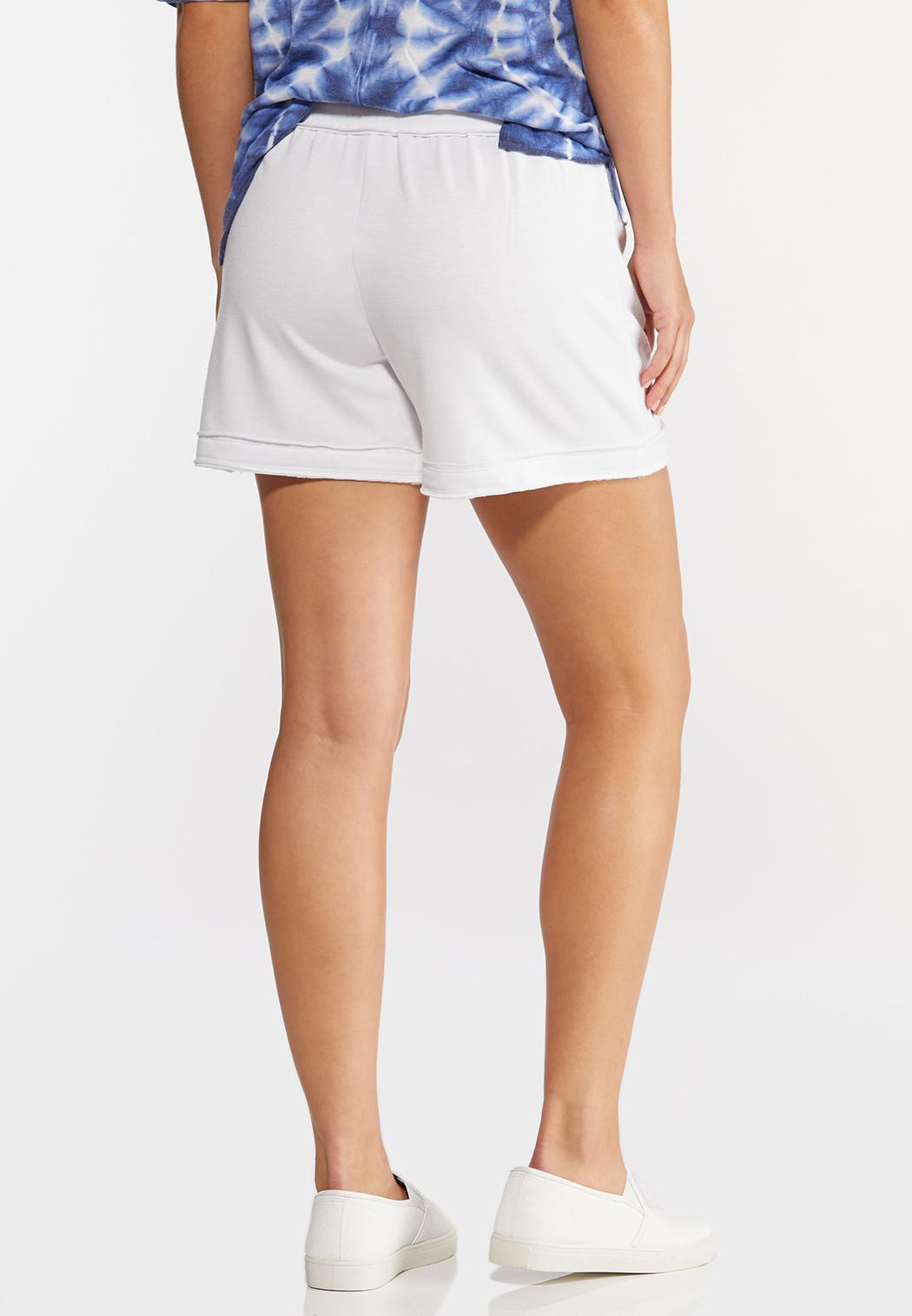 French Terry Raw Hem Shorts (Item #44275958)