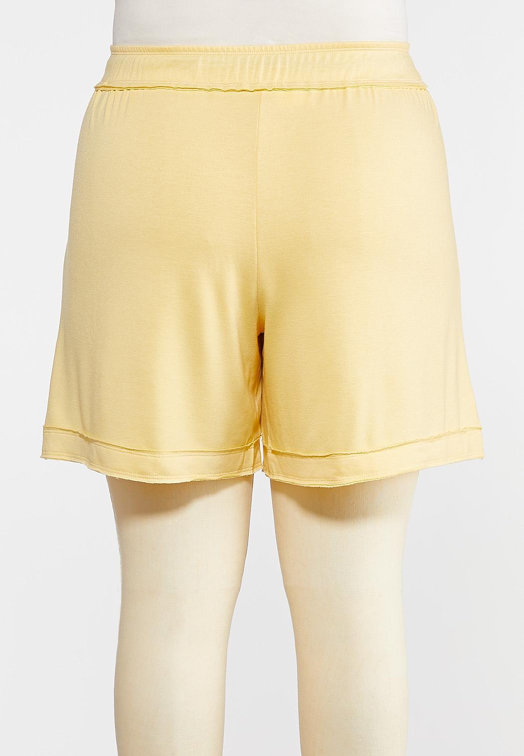 Plus Size French Terry Raw Hem Shorts (Item #44275977)