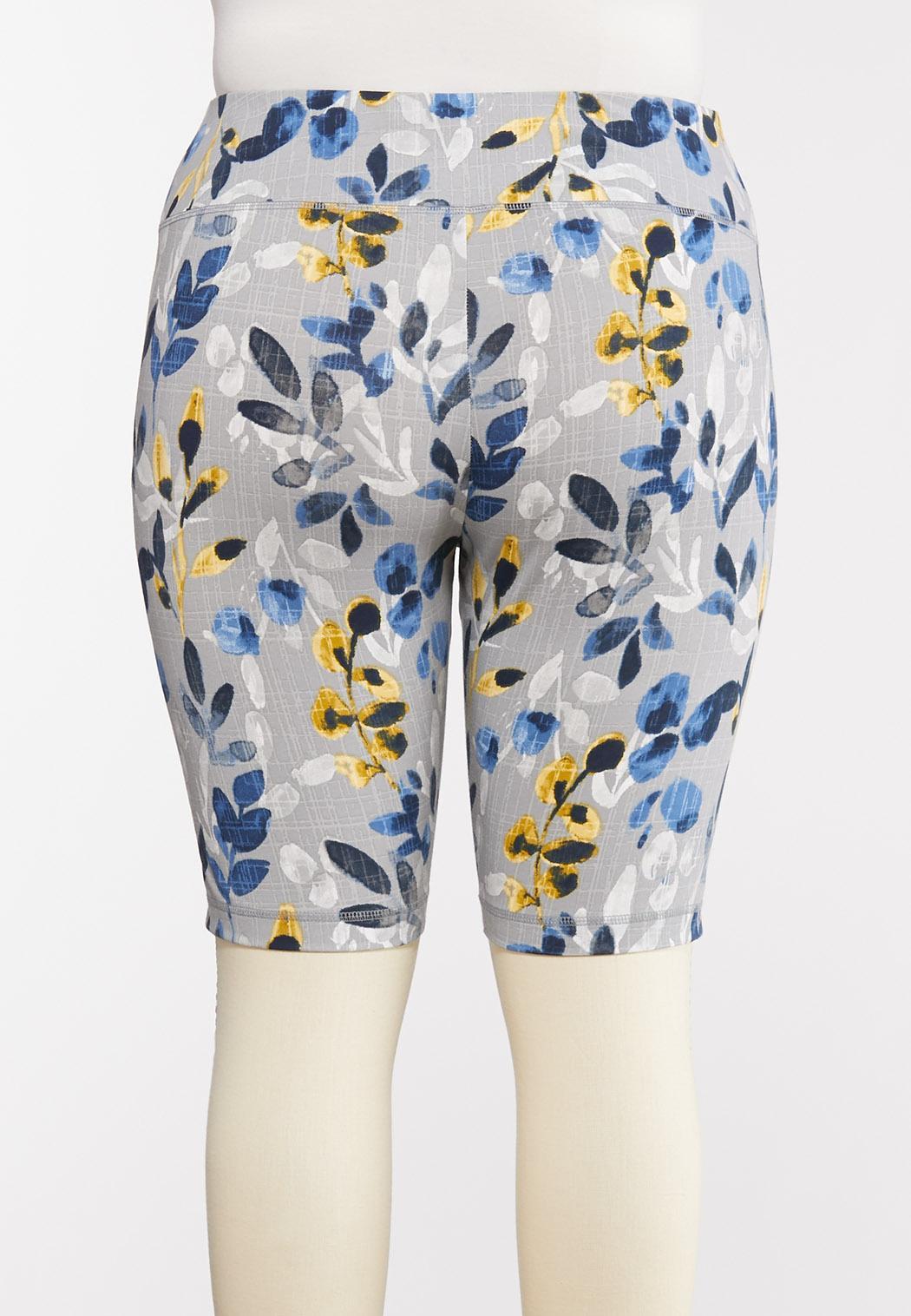 Plus Size Floral Biker Shorts (Item #44276155)