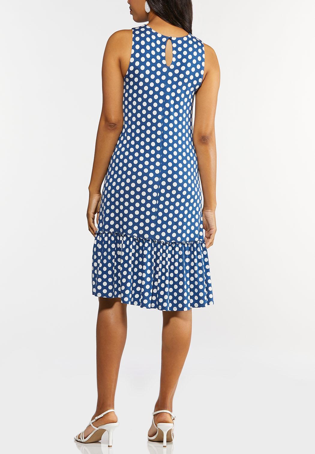 Polka Dot Ruffled Hem Dress (Item #44278361)