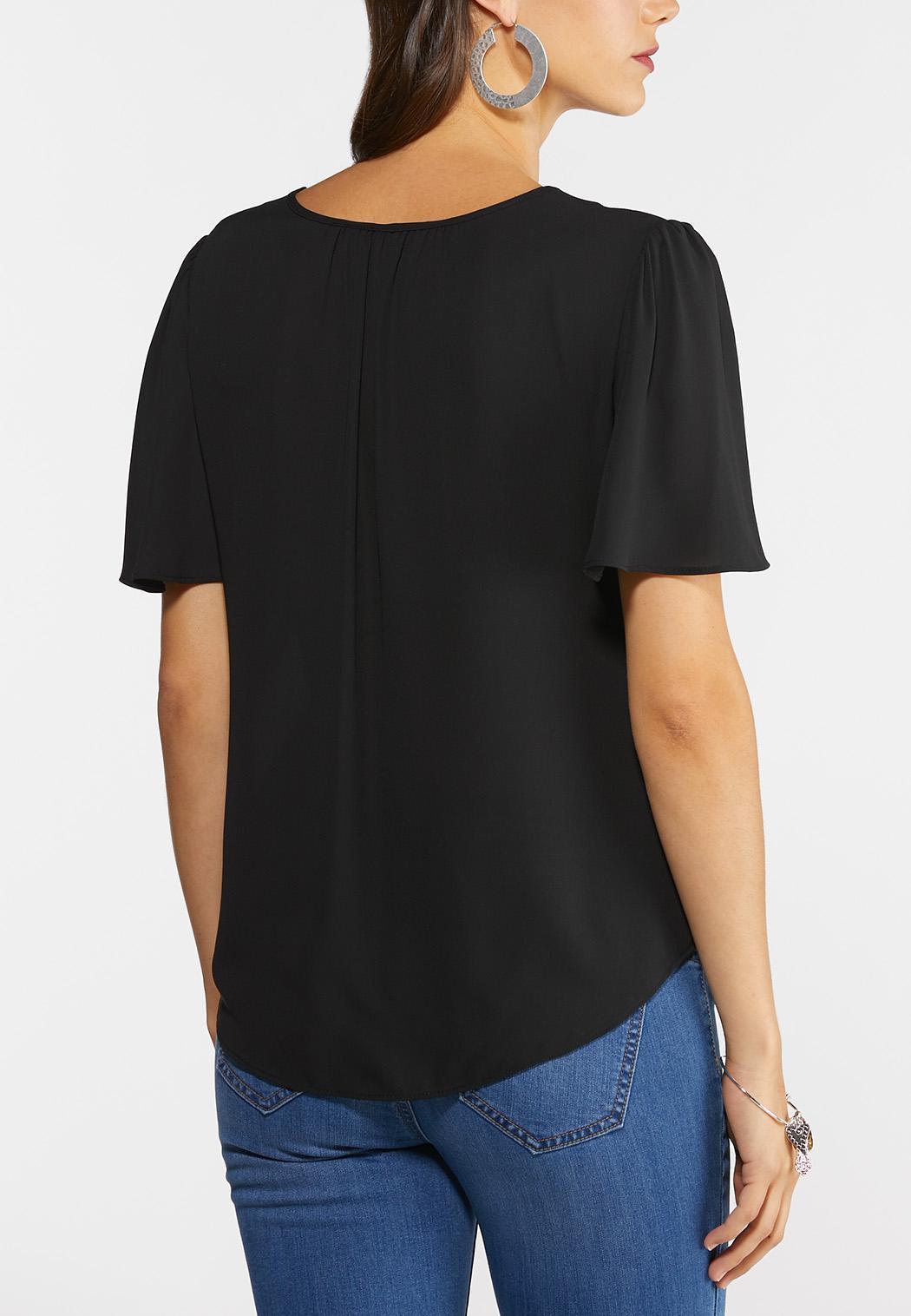 Plus Size Lace Lined Top (Item #44279331)