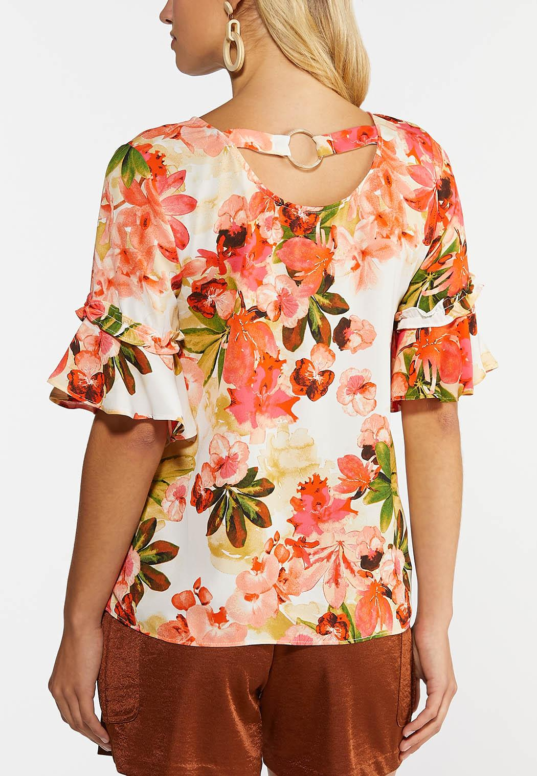 Plus Size Precious Pink Floral Top (Item #44279422)