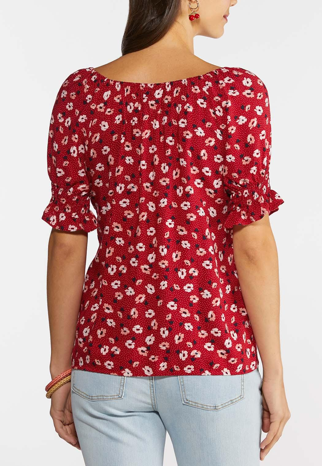Floral Puff Sleeve Top (Item #44279494)