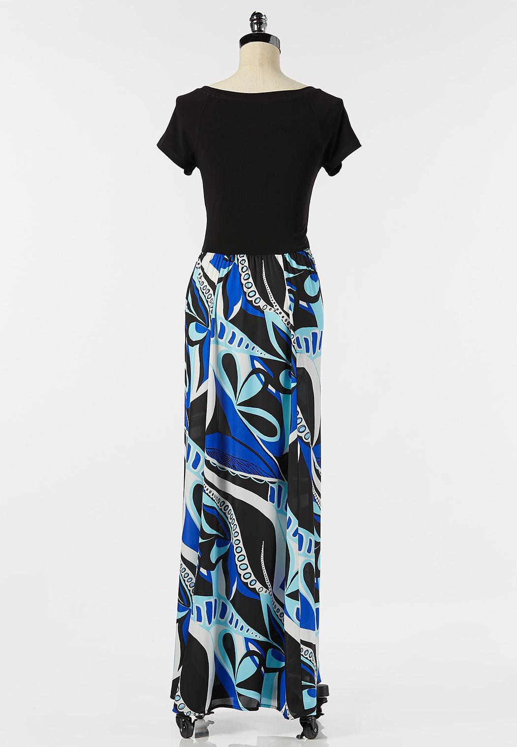 Plus Size Graphic Print Maxi Dress (Item #44279550)