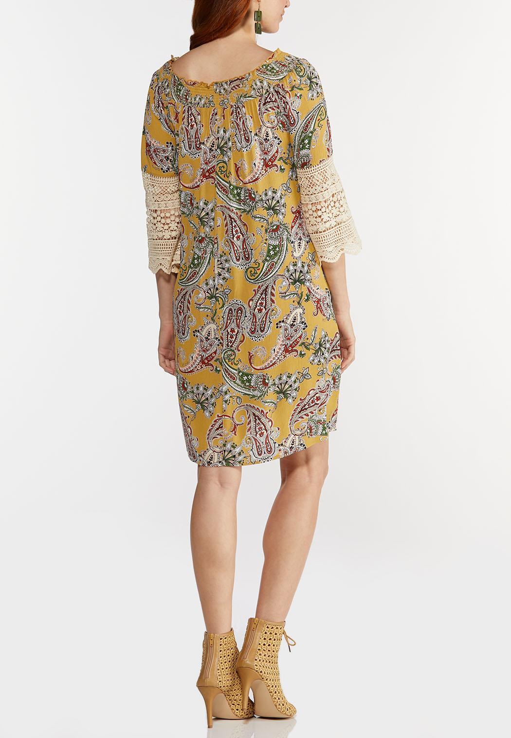 Crochet Sleeve Swing Dress (Item #44280083)