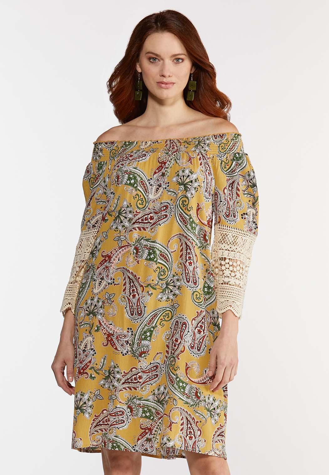 Plus Size Crochet Sleeve Swing Dress (Item #44280263)