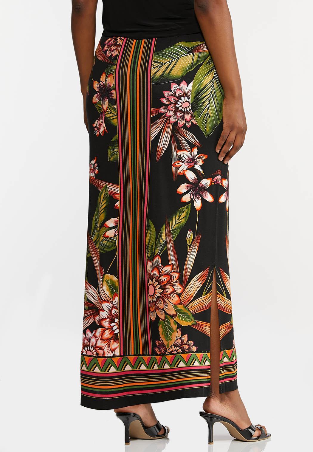 Tropical Floral Maxi Skirt (Item #44280548)