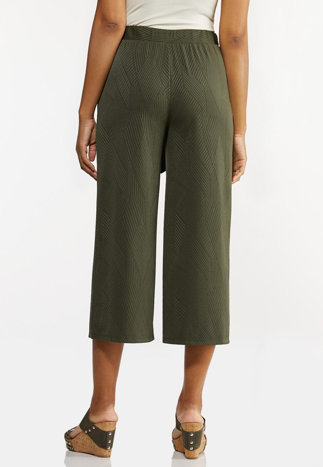 Ribbed Cropped Pants (Item #44280825)