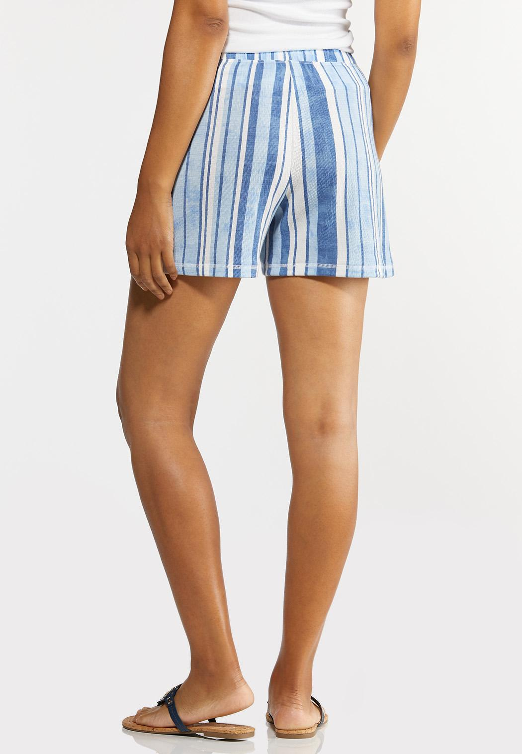 Striped Ocean Blue Shorts (Item #44280901)