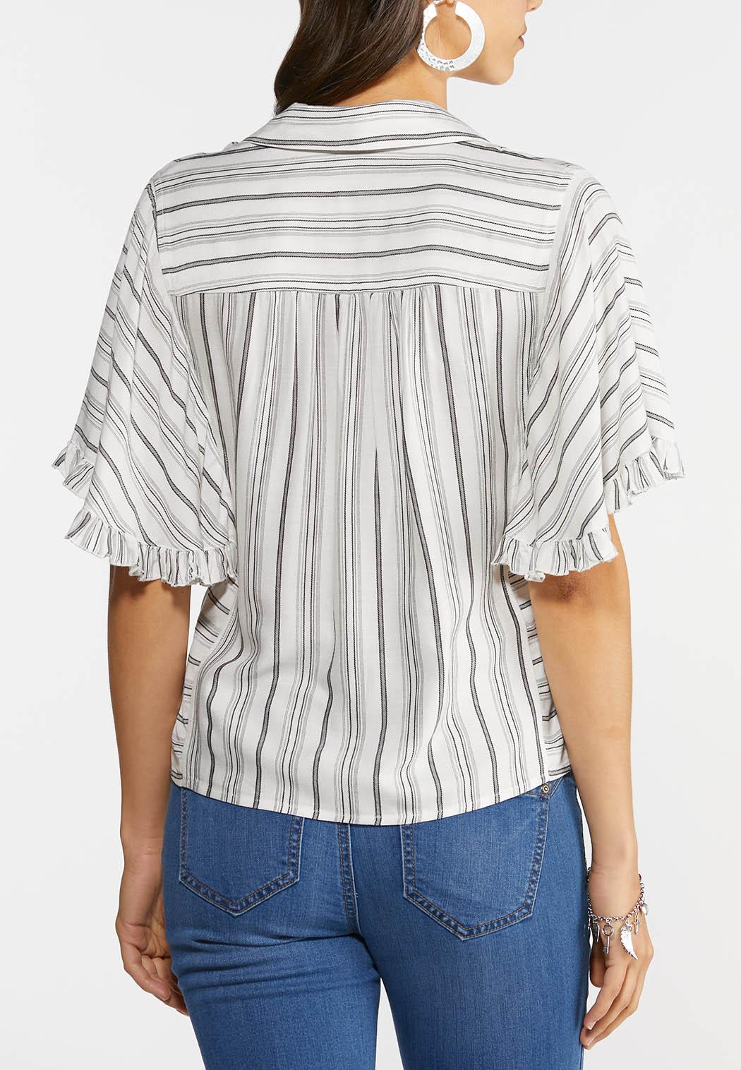 Striped Ruffle Top (Item #44280977)