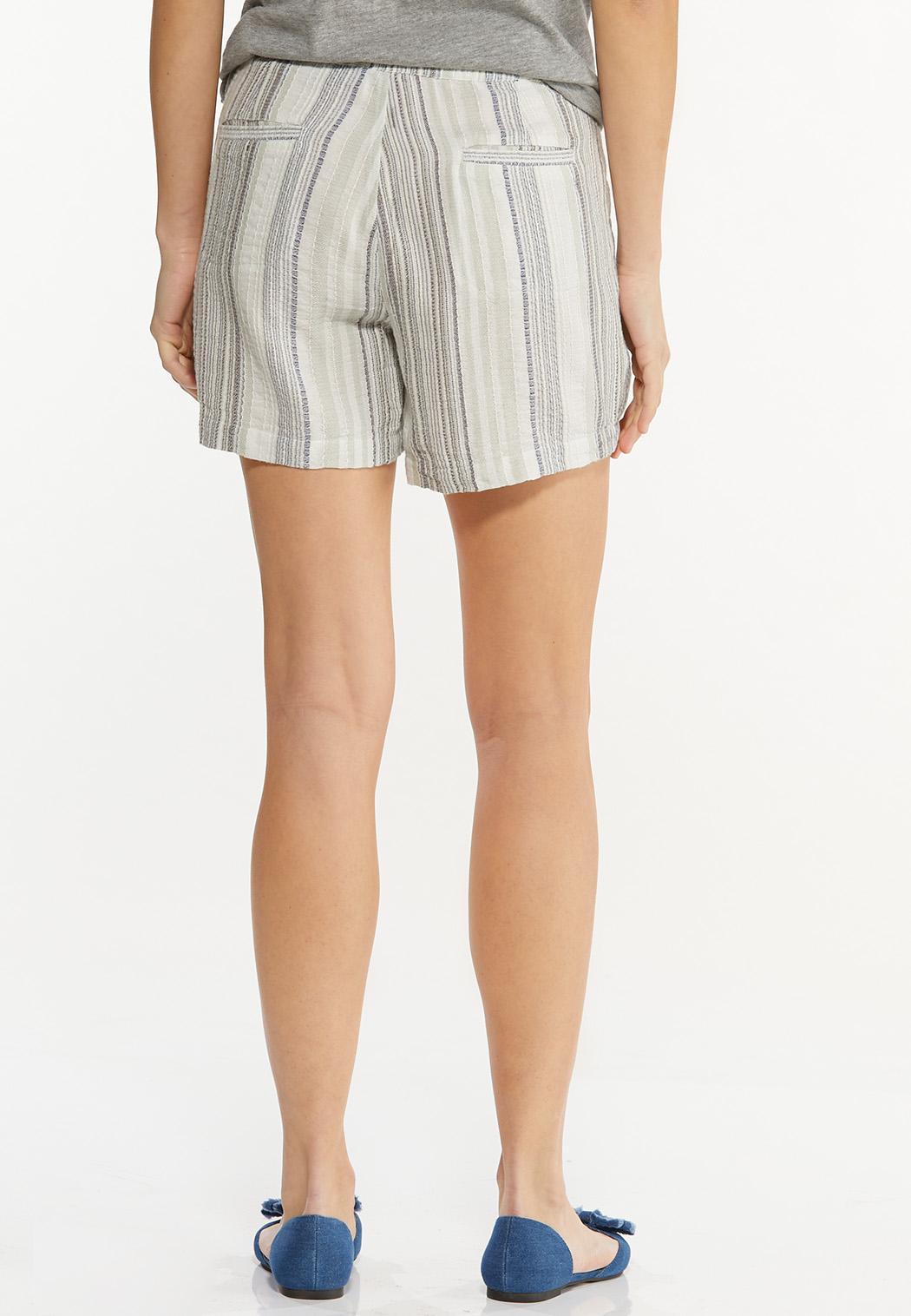 Textured Linen Shorts (Item #44281056)