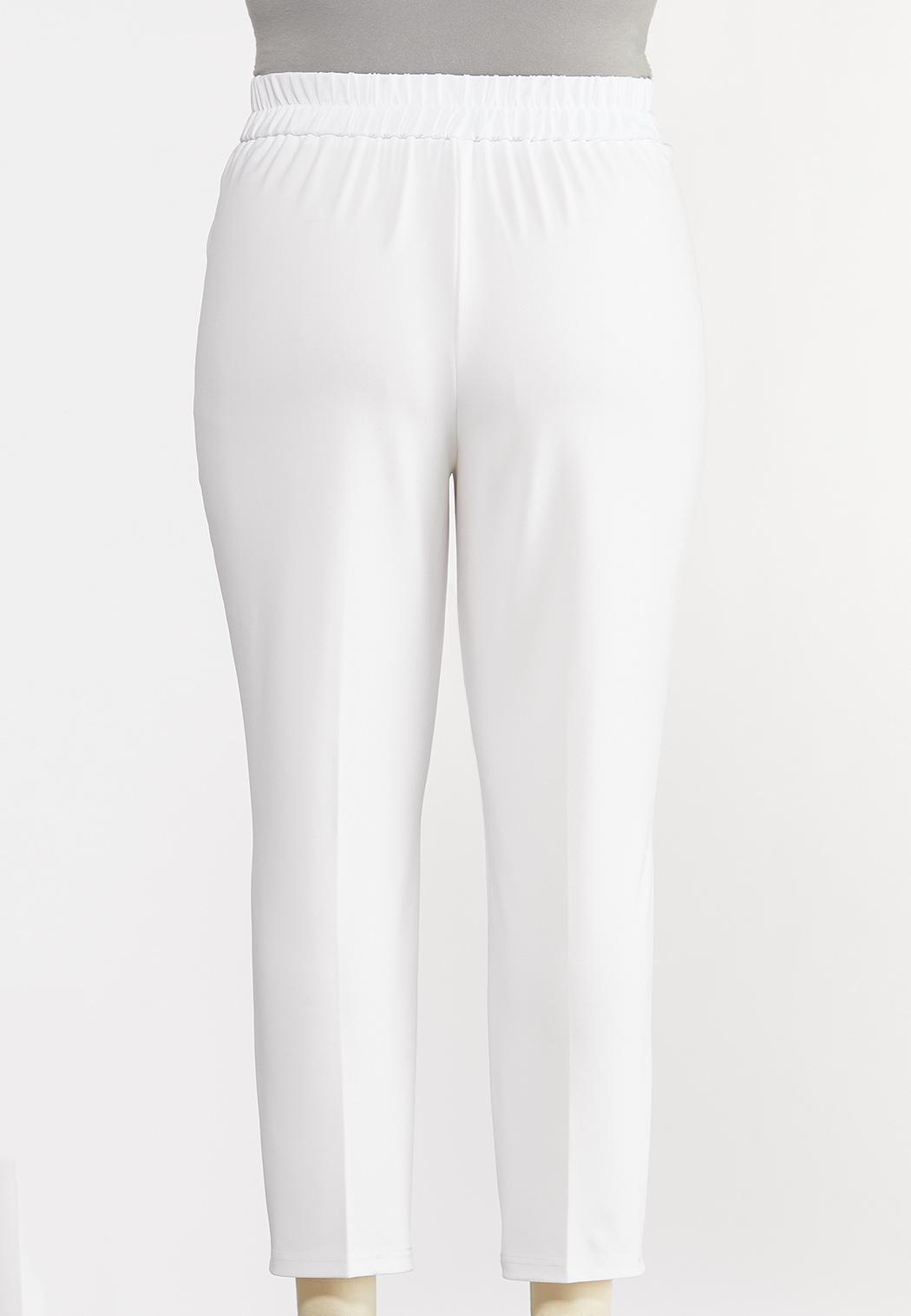 Plus Petite Button Tab Slim Pants (Item #44281186)