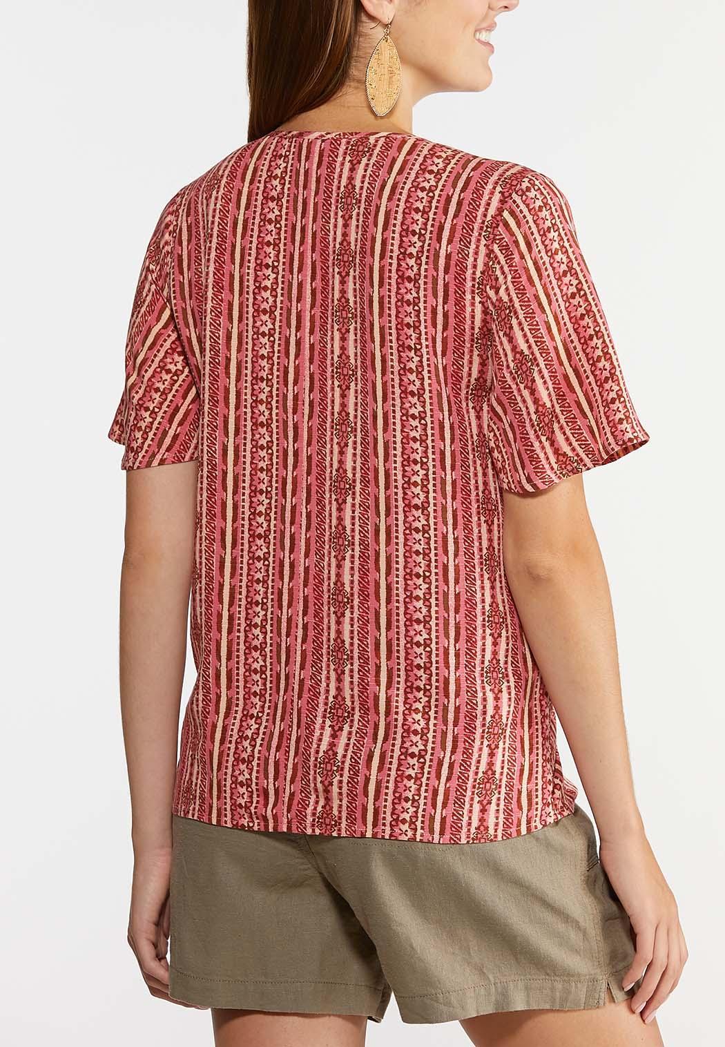 Aztec Tie Front Top (Item #44281352)