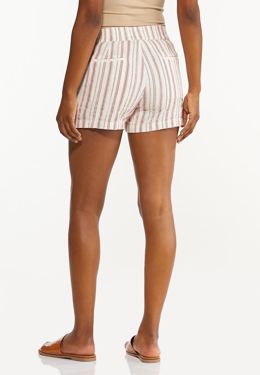 Striped Linen Shorts (Item #44281671)