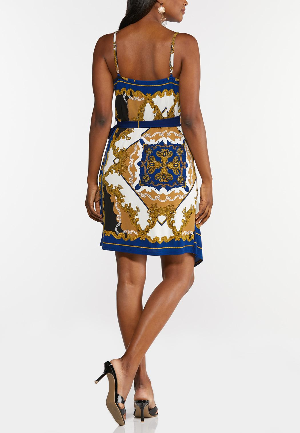 Royal Paisley Wrap Dress (Item #44282057)
