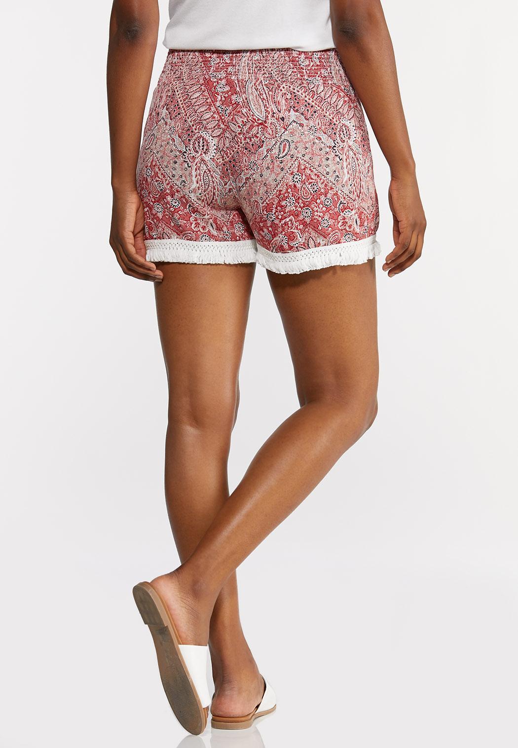 Paisley Fringe Shorts (Item #44282089)