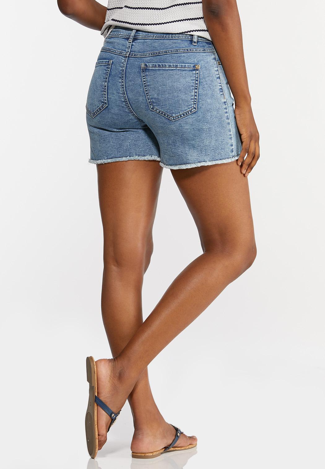 Acid Wash Denim Shorts (Item #44282184)